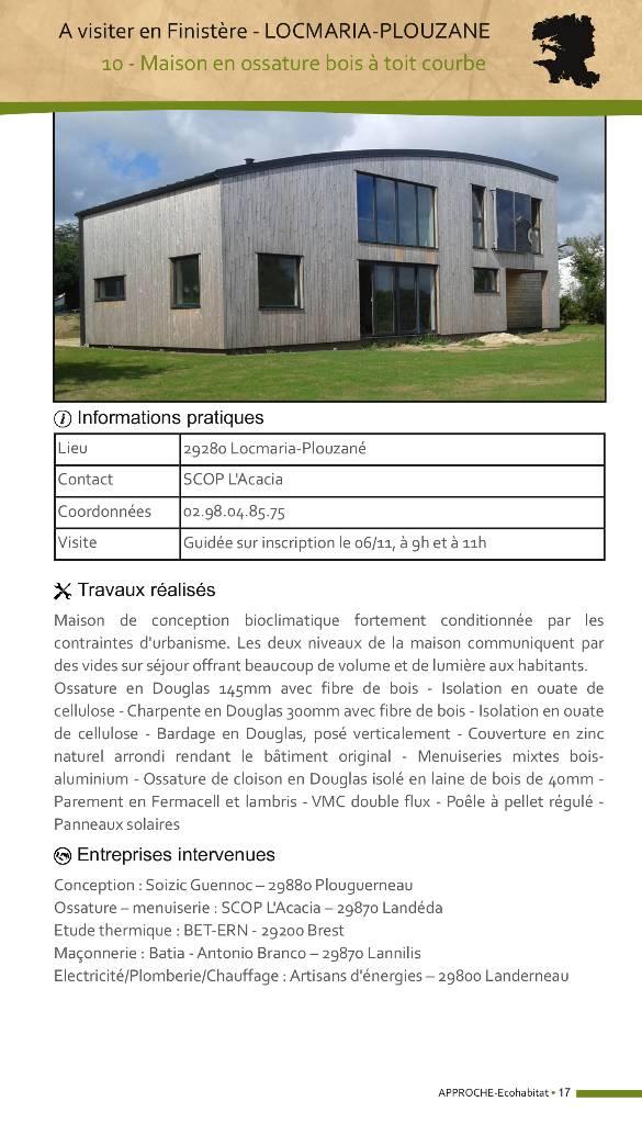 Maison ossature bois toit courbe
