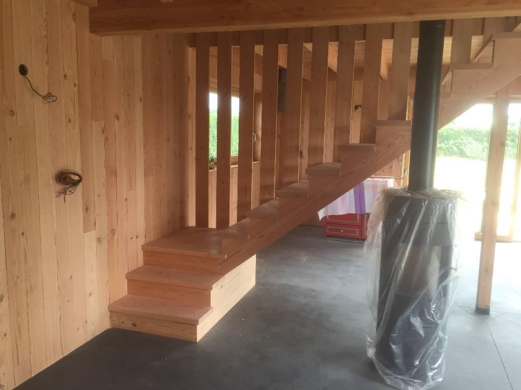 Escalier en douglas