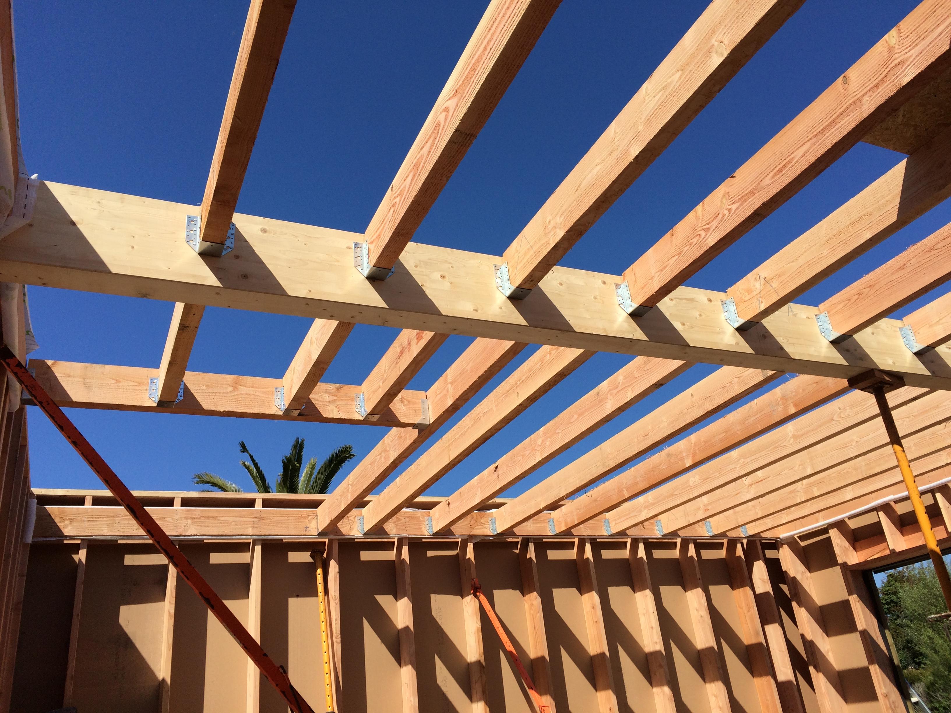 solivage maison ossature bois - scop l'acacia