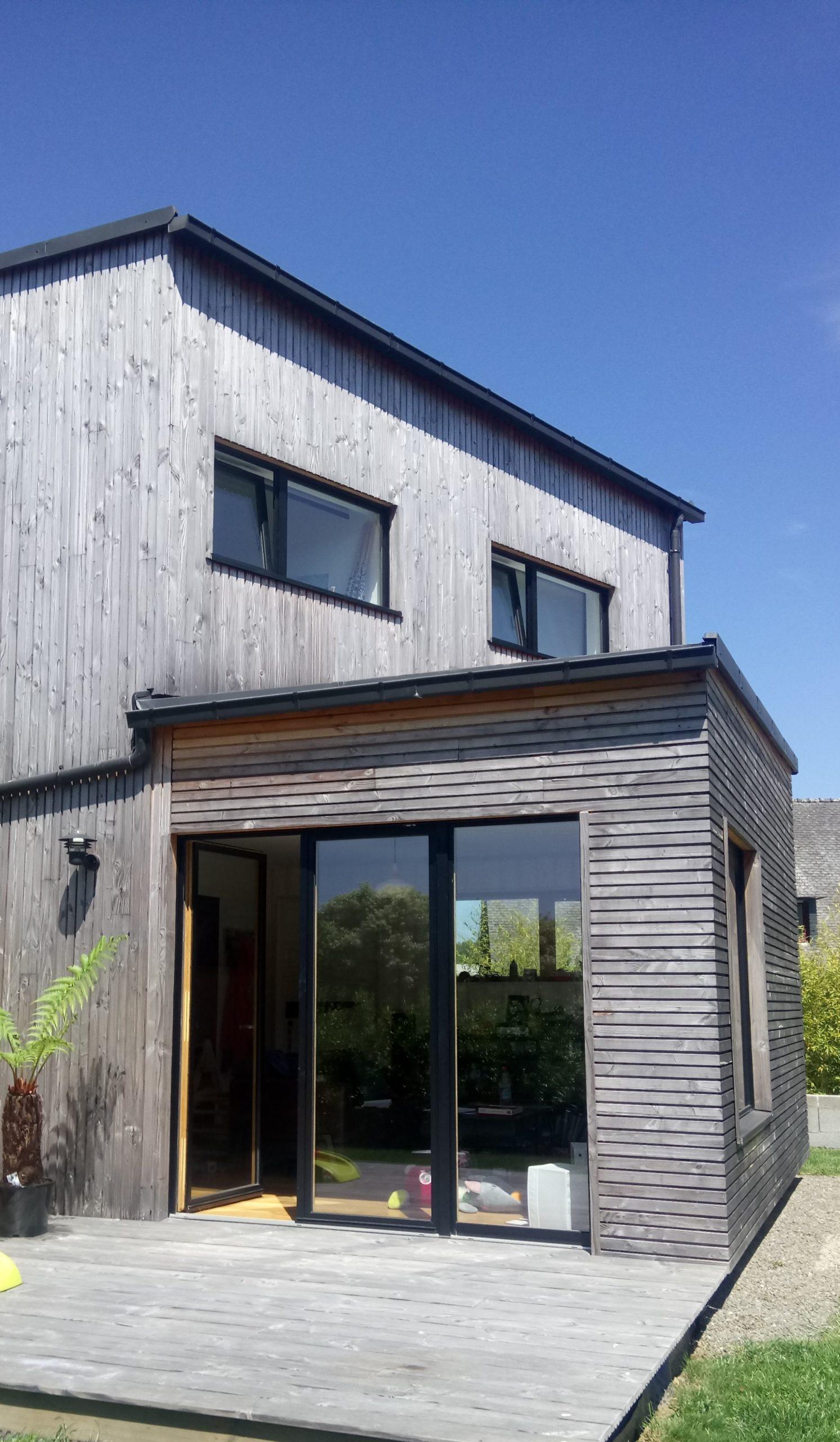 Extension ossature bois Landerneau