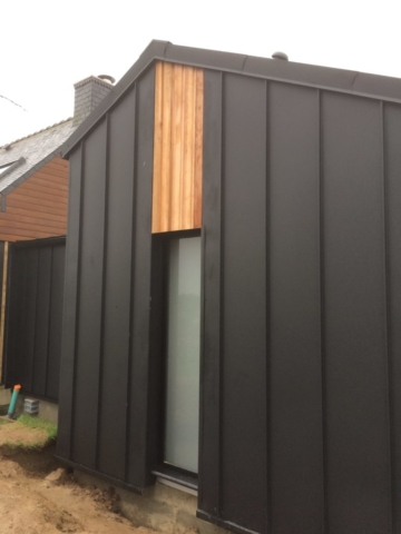 Extension bois bardage aluminium